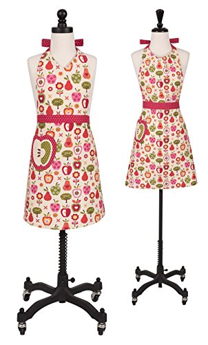 Handstand Kitchen Mother and Daughter 'An Apple a Day' 100% Cotton Apron (Daughter Aprons)