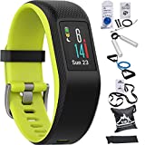 Garmin Vivosport Smart Activity Tracker + Built-In GPS (Limelight, L) 010-01789-13 with 7-Pieces Fitness Kit