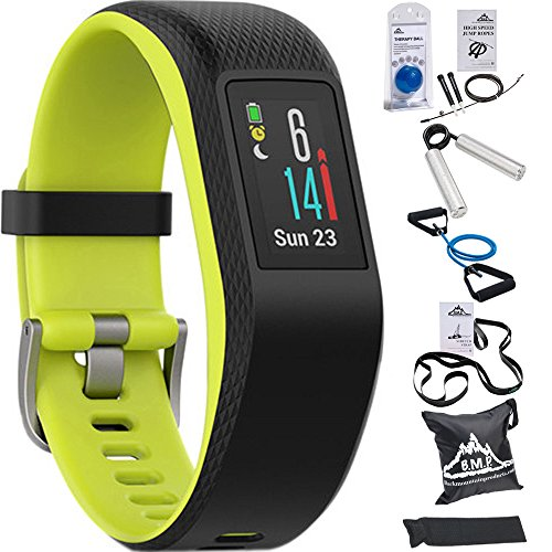 Garmin Vivosport Smart Activity Tracker + Built-In GPS (Limelight, L) 010-01789-13 with 7-Pieces Fitness Kit by Beach Camera