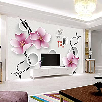 XLi-You 3D Tv Minimalist Modern Seamless Video Walls Wallpaper Murals.