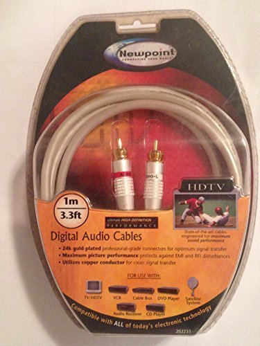 NEWPOINT digital audio cable , 3.3 ft