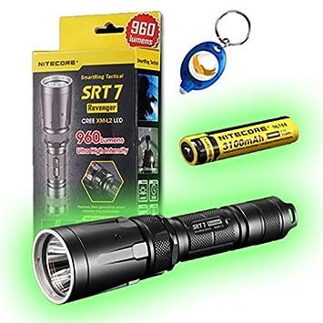 Amazon.com: NITECORE SRT7 Revenger CREE XM-L2 – Linterna LED ...