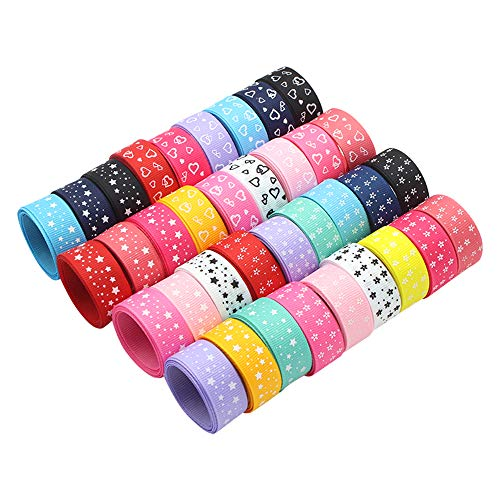 12y/lot 5/8''15mm Printed Grosgrain Ribbons Gift Wrapping Materials Bow Craft (Random Mixed)
