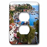 3dRose Danita Delimont - Cities - Turkey, Antalya, Southwest Mediterranean coast with Taurus Mountains. - Light Switch Covers - 2 plug outlet cover (lsp_277008_6)