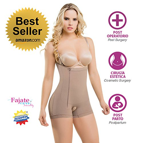aafebfc17c Fajate Virtual Sensuality Colombian Post-Surgery Postpartum Body Shaper  Girdle  435 Thin Removable