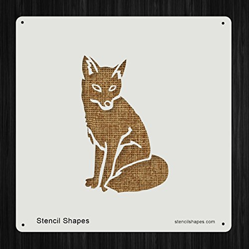Wild Animal Stencils (Fox Wild Red Animal Fauna Style 10318 DIY Plastic Stencil Acrylic Mylar Reusable)