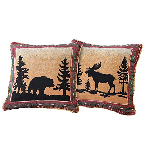 Collections Etc Reversible Northwoods Lodge Throw Pillow ()