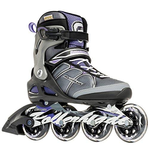 Rollerblade Macroblade 84W Alu 2016 Fitness/Workout Skate, Black/Purple, US Size 8 ()