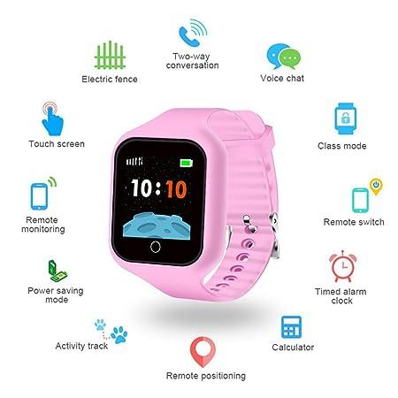 Roebii Reloj Inteligente para niños GPS Tracker, Smartwatch para ...