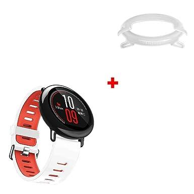 Correas para Reloj Inteligente HUAMI AMAZFIT ❤ Absolute 1PC Sport Silicon Wristband + 1PC Frame Funda Correa de Repuesto Deportiva de Silicona: ...