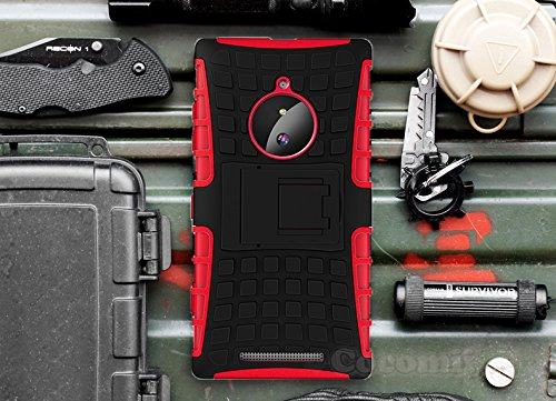 Cocomii Grenade Armor Nokia Lumia 830 Case New [Heavy Duty] Premium Tactical Grip Kickstand Shockproof Hard Bumper [Military Defender] Full Body Dual Layer Rugged Cover for Nokia Lumia 830 (G.Red) (Nokia 830 Case Holster)