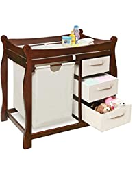 3 Baskets Changing Table With Hamper Bag, Dimensions 37.5x19x37.5, Includes Top Pad And Safety Belt BOBEBE Online Baby Store From New York to Miami and Los Angeles
