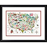 #8: Dimensions 'Illustrated USA' Patriotic 50 States Counted Cross Stitch Kit, 14 Count White Aida Cloth, 14