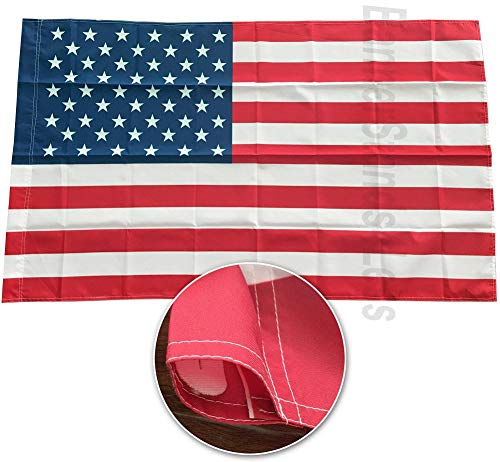 (4Less AWS 3x5 Ft American Flag with Sleeve Pole Pocket - USA Polyester (Imported))
