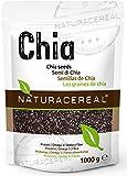 NATURACEREAL Chia Samen 1 kg. -   Glutenfrei, Vegan und Naturbelassen   In Deutschland geprüfte Qualität   Proteine, Ballaststoffe und Omega 3  