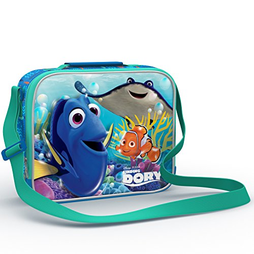 Finding Dory Special Limited Edition School Kids Lunch box. Characters on both sides! Boys and Girls Favorite Dory-Nemo Lunch Tote Bag with Strap. Destiny, Bailey, Hank, Marlin Back to School - Olive Kids Under Construction Queen