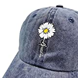 Waldeal Women's Adjustable Daisy Blessed Hat Faith
