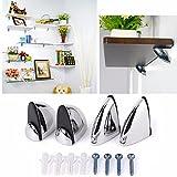 Vivona Hardware & Accessories Polished Chrome Glass Shelf Support Clamp Brackets Bathroom for Shelves - (Size: L)