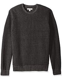 Men's Soft Cotton Rib Stitch Crewneck Sweater