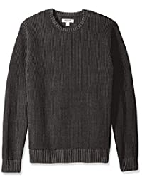 Goodthreads Men's Soft Cotton Rib Stitch Crewneck Sweater