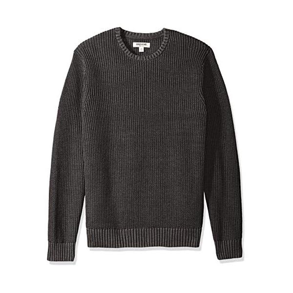 Brand Goodthreads Mens Soft Cotton Rib Stitch Crewneck Sweater
