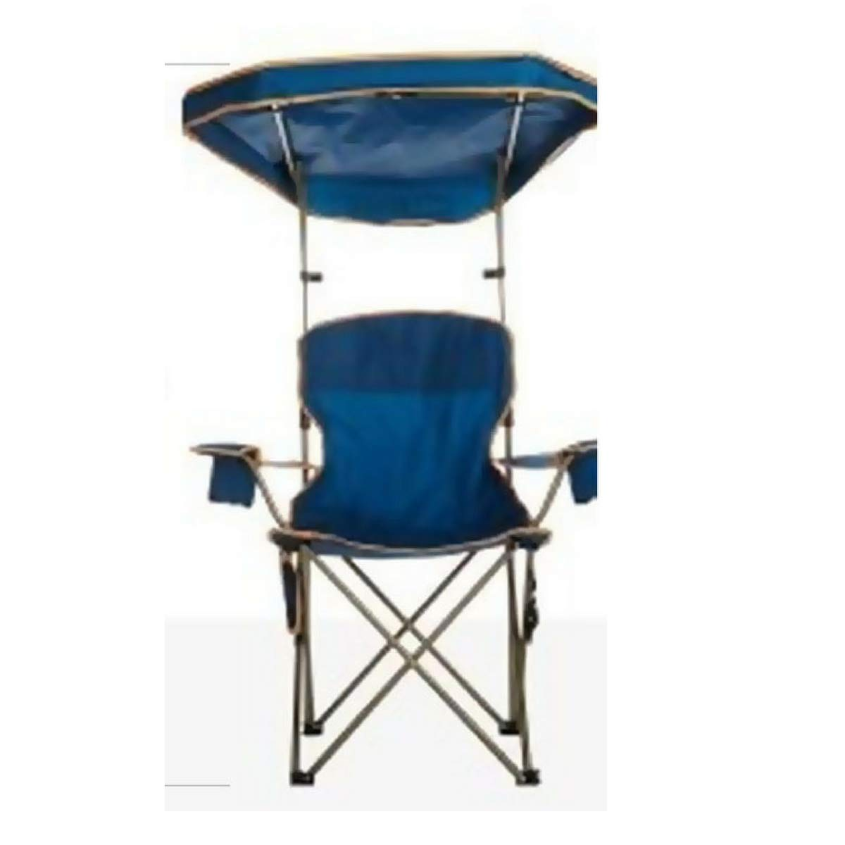 Indipartex Folding Chair with Hood Portable Folding Camp Chair with Adjustable MAX Shade Canopy Protection from Both Sun and Rain Lightweight and Easy to Use No Assembly Required Navy