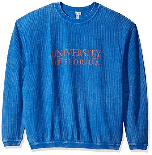 Ncaa Florida University - chicka-d NCAA Officially Licensed University of Florida Ladies Corded Crew Sweatshirt/Oversized Sweater- Florida Gators Women's Apparel