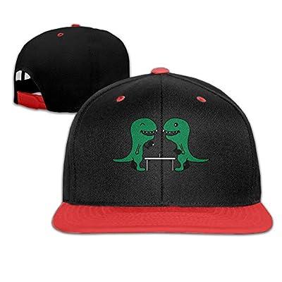 Riokk Az Boy&Girl Red Hip Hop Cap Trucker Baseball Hats Funny Table Tennis Dinos