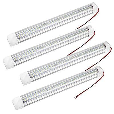 4x108 LED Innenbeleuchtung Auto Innenleuchten 12-80V LED Leuchtet Leiste Leuchtstofflampe Innenlichtleiste Beleuchtung…