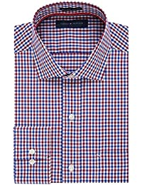 Tommy Hilfiger Men's Non Iron Regular Fit Mini Check...
