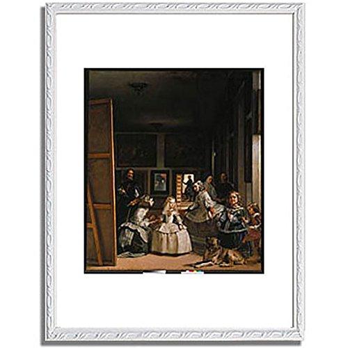 ベラスケス「ラスメニーナス Las Meninas (The courtladies). 」 インテリア アート 絵画 プリント 額装作品 フレーム:装飾(白) サイズ:L (412mm X 527mm) B00NUMW96S 3.L (412mm X 527mm)|6.フレーム:装飾(白) 6.フレーム:装飾(白) 3.L (412mm X 527mm)