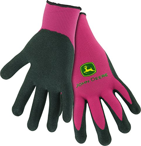 West Chester John Deere JD00021 Breathable Knit Utility Work Gloves with Nitrile Coated Grip: Pink, Women's One Size Fits Most, 1 Pair