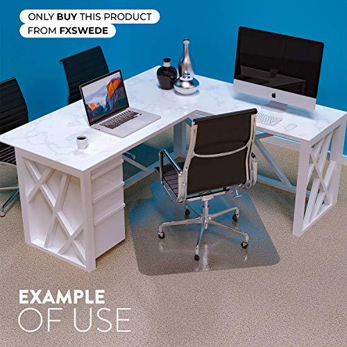 Desk Chair Mat for Carpet - Unbreakable Heavy Duty Polycarbonate Ships Flat Office Chair Mat for Carpet - Chair Mats for Carpeted Floors - Computer Chair Mat for Carpet Floors - Floor Mats for Office by Starcounters (Image #5)