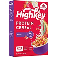 HighKey Protein Snacks - Keto Breakfast Cereal - 0 Net Carb & Zero Sugar, Gluten & Grain Free Cereals Snack Food - Paleo, Diabetic, Ketogenic Diet Friendly Pebbles - Healthy Grocery Foods - Fruity