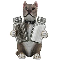 Decorative Pit Bull Glass Salt and Pepper Shaker Set