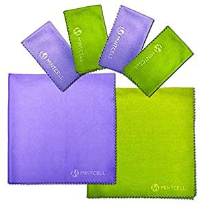 "MintCell Premium Microfiber Cleaning Cloth 6-Pack (2pcs 12""X12"", 4pcs 7""x6"") For Cell Phone, Tablets, Laptop, LCD TV Screens, Glasses, Camera, and Any Other Delicate Lenses and Devices"