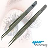 YNR® Swiss Quality Tweezers Straight Curved For...
