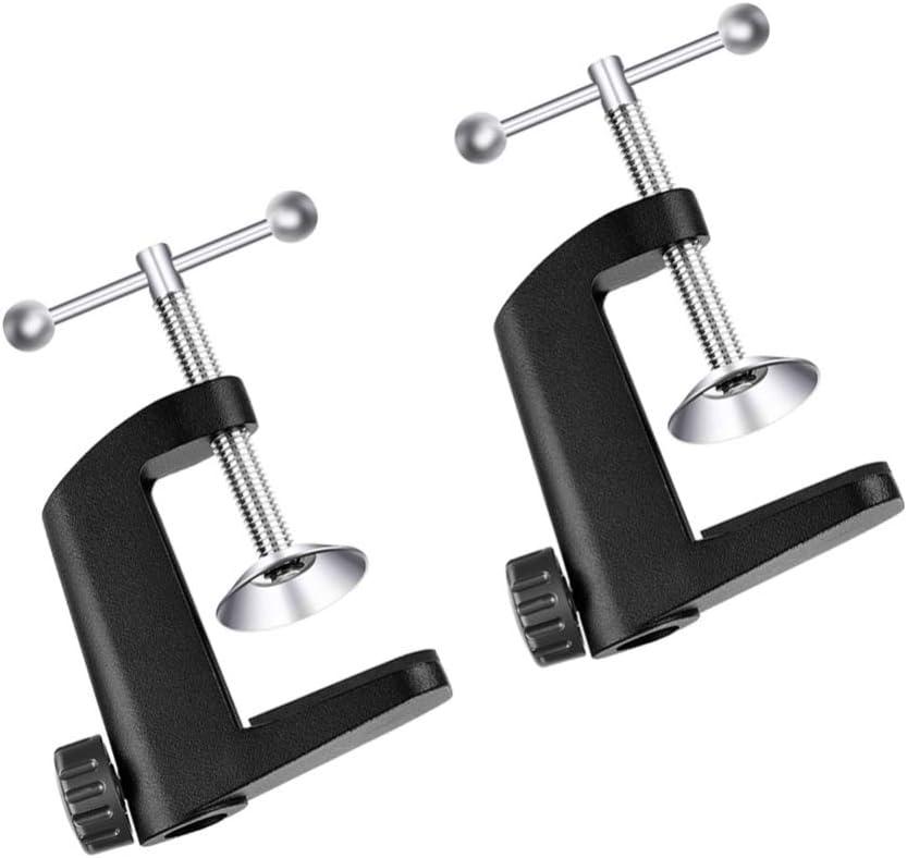 Noir HEALLILY Pince de Bras R/églable Support de Casque en M/étal de Type C Support de Bureau Support de Bureau Support de Lampe de Table Support de Lampe