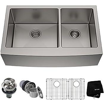 Kraus KHF203-33 Standart PRO Kitchen Stainless Steel Sink, 32.88