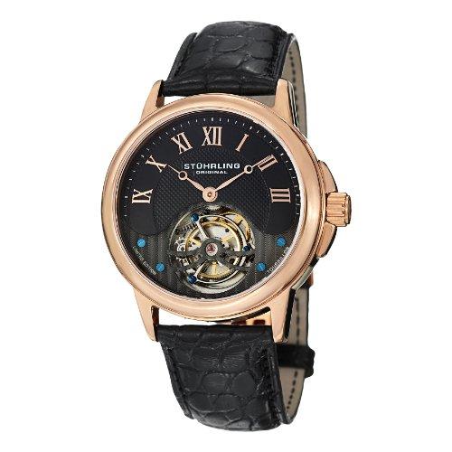 en's 541.334XK1 Tourbillon Analog Mechanical Hand Wind Black Alligator Leather Watch ()