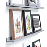 Cheap Wallniture Denver Modern Design Floating Picture Display Ledge Wall Mounted Shelf 46 Inches Gray