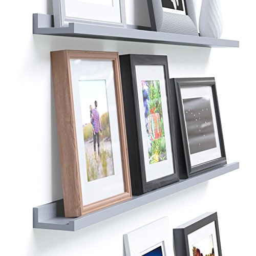 Review Denver Modern Floating Wall Ledge Shelf for Pictures and Frames By Fasthomegoods by Fasthomegoods