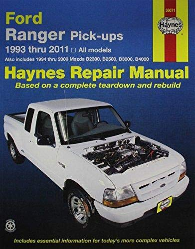 2004 Ford Ranger Mirror - Ford Ranger (93-11) & Mazda B2300/B2500/B3000/B4000 (94-09) Haynes Repair Manual