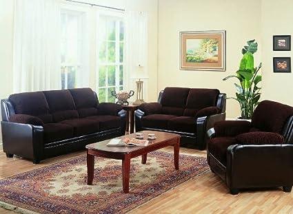 Amazon.com: Monika 3 Pc Living Room Set 50281-Set: Kitchen ...
