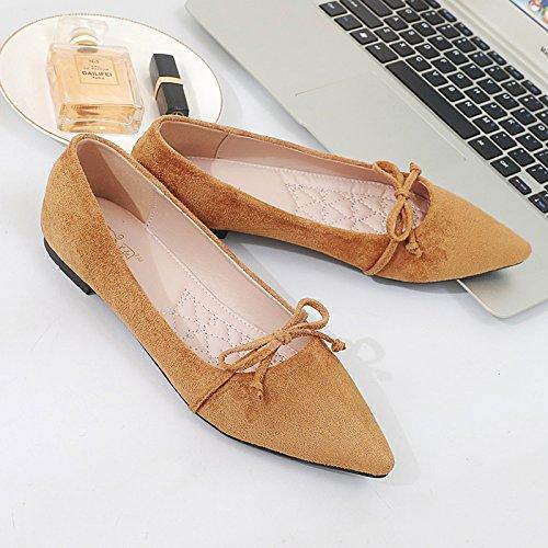 Xue Qiqi Edlen Bow Tie mit Edlen Qiqi Möbeln Einem Einzigen Schuh Tipp Flache Schuhe mit Hellen Wohnung mit Einzelnen Schuhe Frauen ceafe7