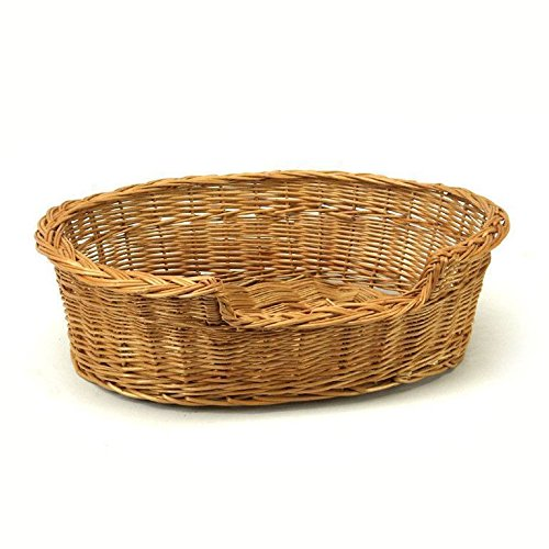 Extra Large Willow Dog Cat Pet Wicker Basket (Dog Wicker Basket)