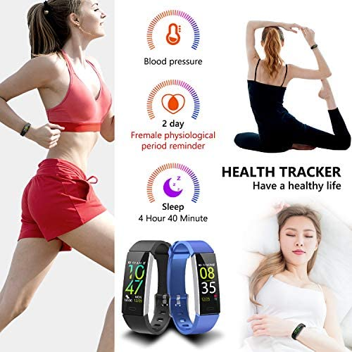 Mgaolo Fitness Tracker,2020 Version IP68 Waterproof Activity Tracker with Blood Pressure Heart Rate Sleep Monitor,10 Sport Modes Health Fit Smart Watch with Pedometer for Men Women 5
