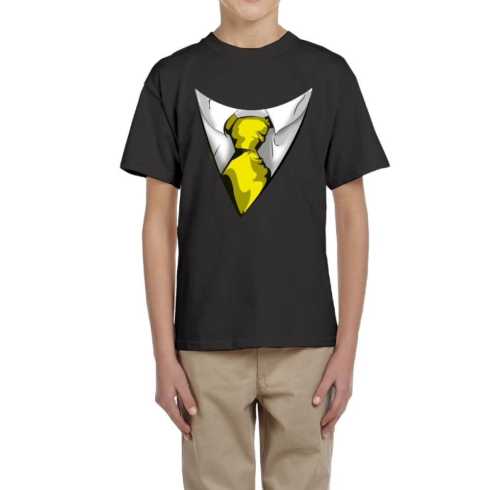 Fzjy Wnx Boy Short Sleeve T-Shirt Crew Yellow Tie