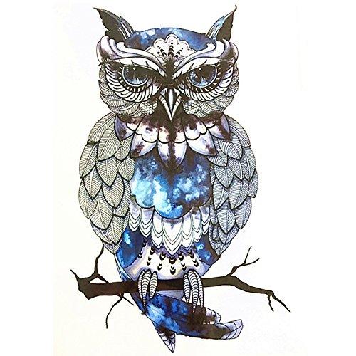 HOT! Snowy Owl Hedwig Design Large Arm Tattoo Sleeve Flash Temporary Tattoo Sticker 21x15cm Waterproof Henna Tattoo Women Body (Hedwig Owl Tattoo)