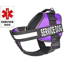 Dogline Unimax Service Dog Vest and Free Service Dog ID Badge with ADA Law, X-Small, Purple